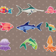 Fish stickers — Stock Vector #11136077