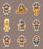 Cartoon pharaoh stickers — Stock Vector