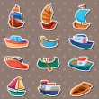 Boat stickers - Stock Vector