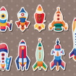 Rocket stickers - Stock Vector