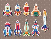 Rocket stickers — Stock Vector