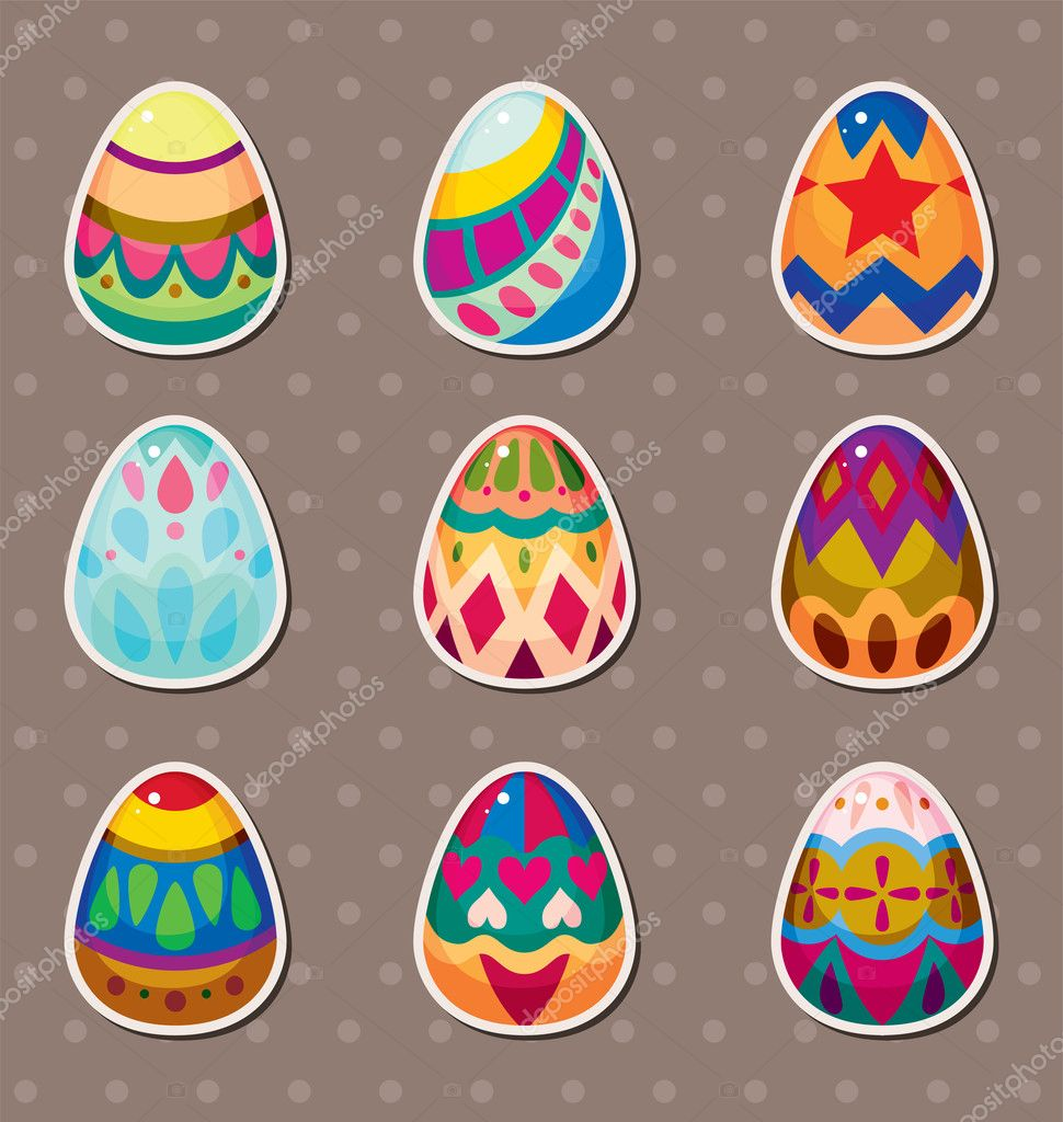 Easter Eggs Cartoon Pictures Cartoon Easter Egg Stickers