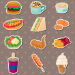 Fast food stickers — Stock Vector #11209915