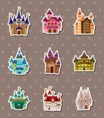 Castle stickers — Stock vektor