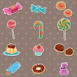 Stock Vector: Candy stickers