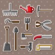 Tools stickers - Stock Vector