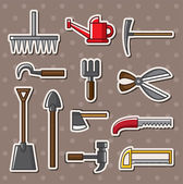 Tools stickers — Stock Vector