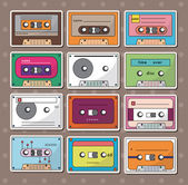 Tape stickers — Stock Vector