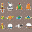 Stock Vector: Space stickers