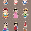 Stock Vector: Story stickers