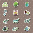 Vector de stock : Eco stickers