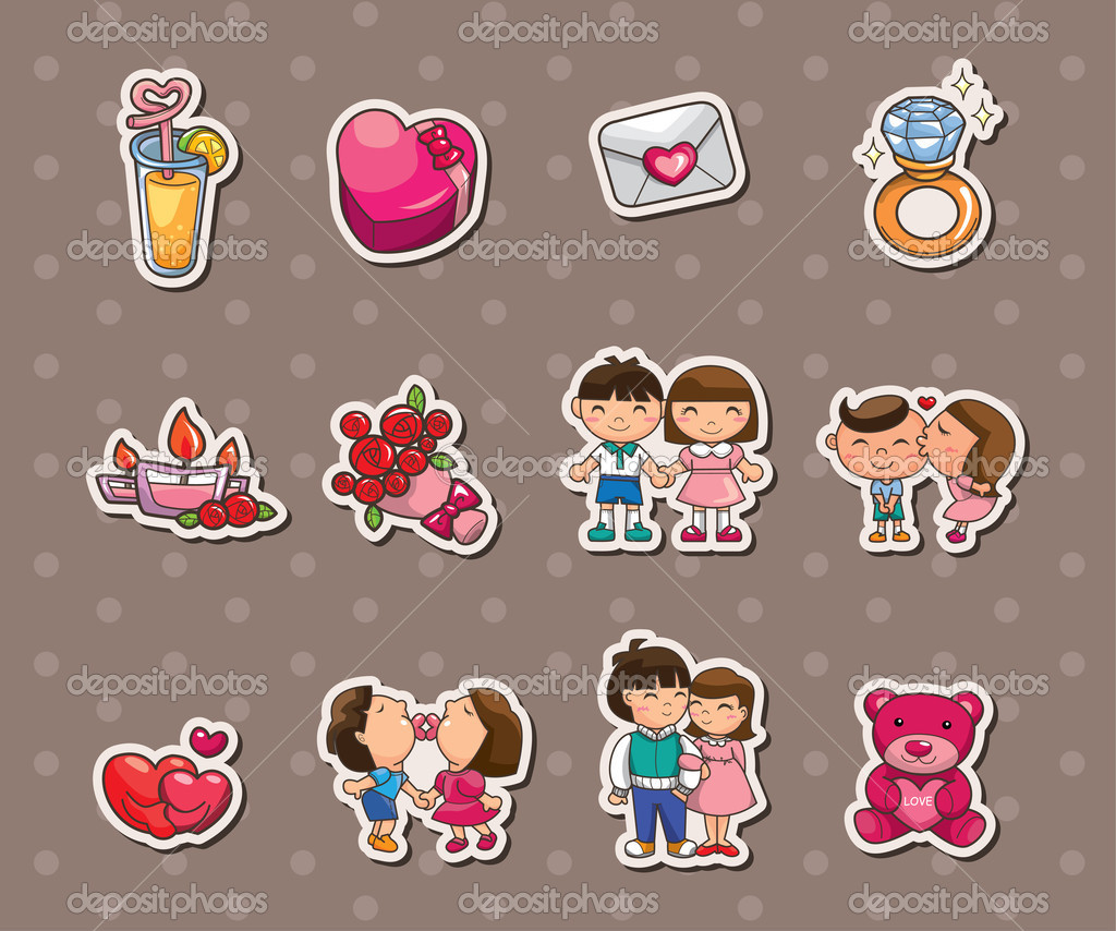 Pegatinas de amor archivo im genes vectoriales for Donde venden stickers para pared