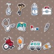 Stock Vector: Hospital stickers