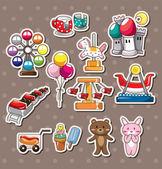 Playground stickers — Stock Vector