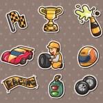 F1 racing stickers — Stock Vector #11647843