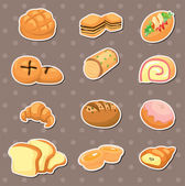 Bread stickers — Stock Vector