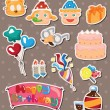 Birthday stickers — Stock Vector #11715992