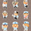 Stock Vector: Doctor and nurse stickers