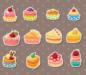Cake stickers — Stock Vector