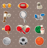 Sport objects stickers — Stock Vector