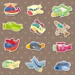 Airplane stickers - Imagen vectorial