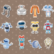 Robot stickers — Stock Vector #12092684