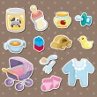Stock Vector: Baby stuff stickers