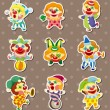 Clown stickers — Stock Vector