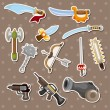 Stock Vector: Weapon stickers