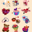 Vector de stock : Love icons