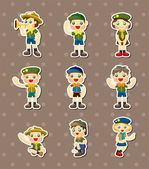 Boy and girl scout stickers — Stock Vector