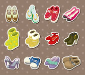 Shoe stickers — Stock Vector