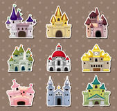 Cartoon Fairy tale castle stickers — Stockvector