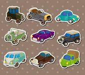 Retro car stickers — Stock Vector