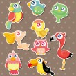 Stock Vector: Bird stickers