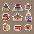 Chinese house stickers — Stock Vector