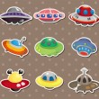 Stock Vector: Ufo stickers