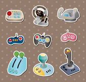 Cartoon game joystick stickers — Cтоковый вектор