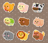 Animal stickers — Stock Vector