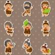 Cartoon Caveman stickers — Stock Vector #12212437