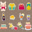 Birthday element stickers — Stock Vector #12384759
