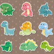 Dinosaur stickers — Stock Vector #12384762