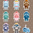 Robot stickers — Stock Vector