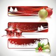 Three vector banner design on a Christmas theme.. — Stock Vector