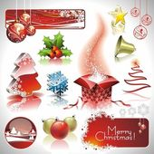 Christmas collection with 3d elements. — Stock Vector