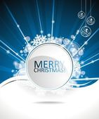 Blue vector Christmas design background with text space. — Stock Vector