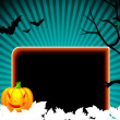 Vector illustration on a Halloween theme — Stock Vector