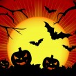 Vector illustration on a Halloween theme — Stock Vector #12081448