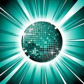 Blue vector shiny disco ball — Stock Vector
