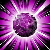 Vector shiny disco ball — Stock Vector